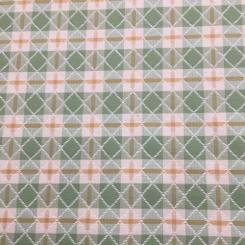 15 Yards Diamond Plaid/Check  Woven  Fabric