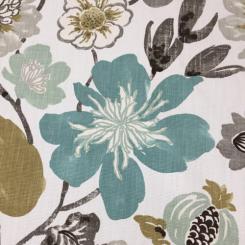 10 Yards Floral  Basket Weave Print  Fabric