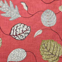8 Yards Floral Nature  Basket Weave Print  Fabric