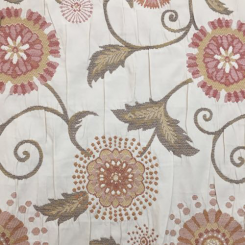 4 1/4 Yards Floral Nature  Embroidered Woven  Fabric