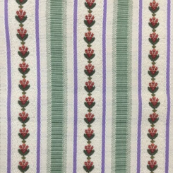 2 3/4 Yards Floral Stripe  Embroidered Woven  Fabric