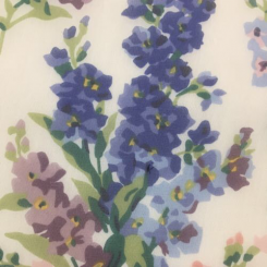 8 1/2 Yards Floral Nature  Sheer  Fabric