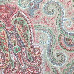 2 3/4 Yards Paisley  Print  Fabric