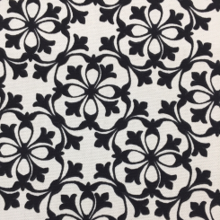 5 1/2 Yards Floral Medallion  Print  Fabric