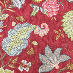 2 Yards Floral Paisley  Print  Fabric