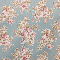 6 1/4 Yards Floral  Print  Fabric