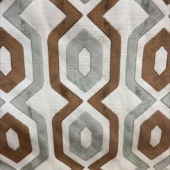 Belgian Geometric Pattern Cut Velvet (H)
