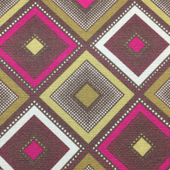 4 1/4 Yards Damask Polka Dots  Print  Fabric