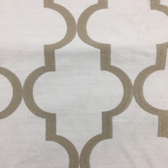 3 3/4 Yards Geometric  Embroidered  Fabric