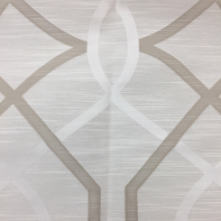 1 Yard Geometric  Embroidered  Fabric