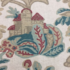 7 Yards Animal Damask  Print  Fabric