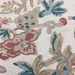 5 1/2 Yards Animal Floral  Print  Fabric