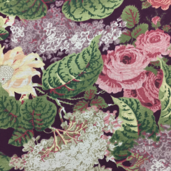 3 Yards Floral Traditional  Print  Fabric