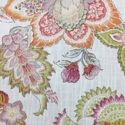 5 Yards Floral Traditional  Print  Fabric