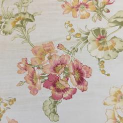 6 Yards Floral  Print Satin  Fabric