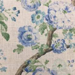 2 1/2 Yards Floral Traditional  Print  Fabric