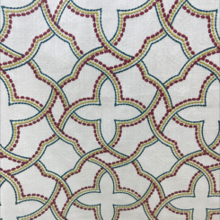 Geometric Embroidered Fabric (H)