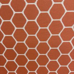 Outdura Honeycomb Jacquard in Orange (H)