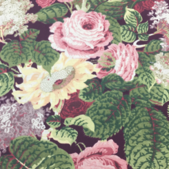 5 Yards Floral Traditional  Canvas/Twill Print  Fabric