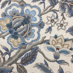 1 3/4 Yards Floral Traditional  Canvas/Twill Print  Fabric