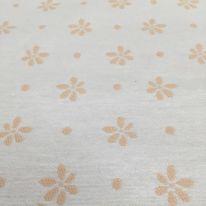 3 1/4 Yards Floral Polka Dots  Woven  Fabric