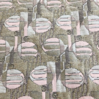 4 Yards Abstract Geometric  Textured Woven  Fabric