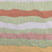 12 Yards Stripe Textured  Textured  Fabric