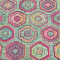 13 Yards Abstract Diamond  Woven  Fabric