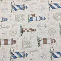 9 1/4 Yards Nautical Novelty  Woven  Fabric