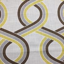 6 1/2 Yards Abstract Geometric  Basket Weave Print  Fabric