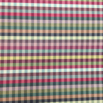 9 Yards Geometric Plaid/Check  Satin  Fabric