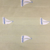 5 1/2 Yards Children Nautical  Embroidered Woven  Fabric