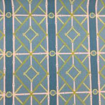5 1/2 Yards Diamond Geometric  Print  Fabric