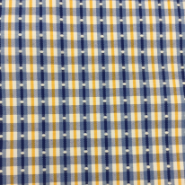 7 1/4 Yards Geometric Plaid/Check  Embroidered Woven  Fabric