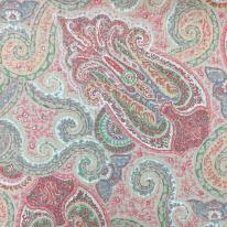 5 3/4 Yards Damask Paisley  Print  Fabric