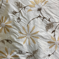 Embroidered Floral Silk (H)