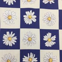 5 Yards Floral Plaid/Check  Print  Fabric