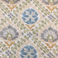 3 1/4 Yards Diamond Floral  Print  Fabric
