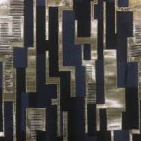 2 Yards Abstract Geometric  Woven  Fabric