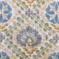 1 Yard Diamond Floral  Print  Fabric