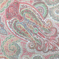2 Yards Damask Paisley  Print  Fabric