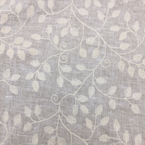 2 1/4 Yards Floral  Embroidered  Fabric