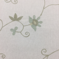 1 1/4 Yards Floral Traditional  Embroidered  Fabric