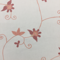 4 3/4 Yards Floral  Embroidered  Fabric