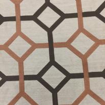 9 1/2 Yards Geometric  Embroidered Satin  Fabric