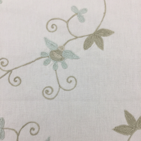 7 Yards Floral  Embroidered  Fabric
