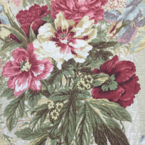3 Yards Floral Traditional  Print Woven  Fabric