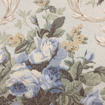 1 3/4 Yards Floral Traditional  Print Woven  Fabric