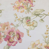 2 1/2 Yards Floral Traditional  Print Satin  Fabric