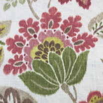 2 1/4 Yards Floral Traditional  Print Woven  Fabric